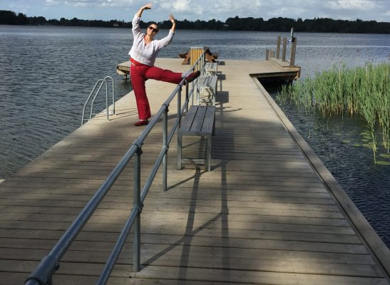 BalletFitness på badebroen - blogfoto