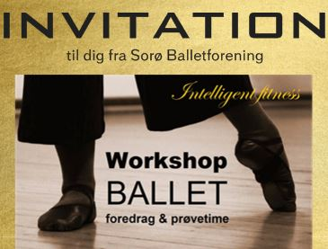 LOGO balletworkshop - foredrag og prøvetime - INVITATION Sorø Balletfor.
