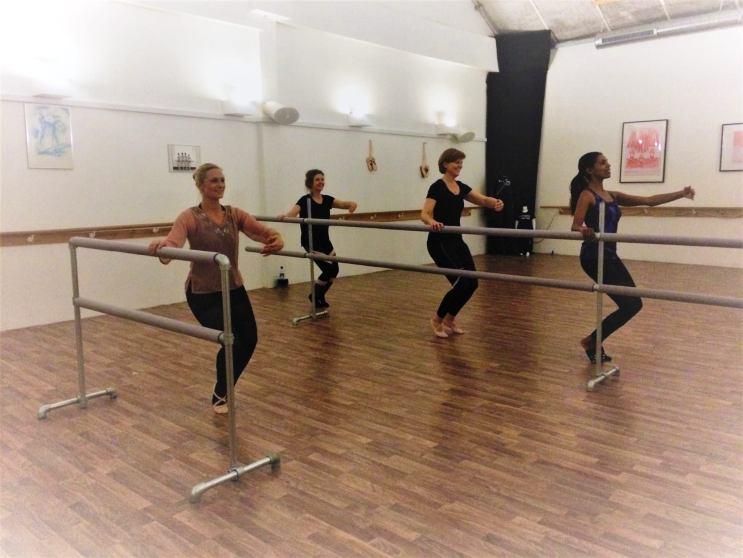 Balletskolen i Næstved, instruktørbarre og lang barre, releve