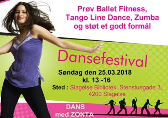 Dansefestival 25.03.2018 Slagelse - flyer