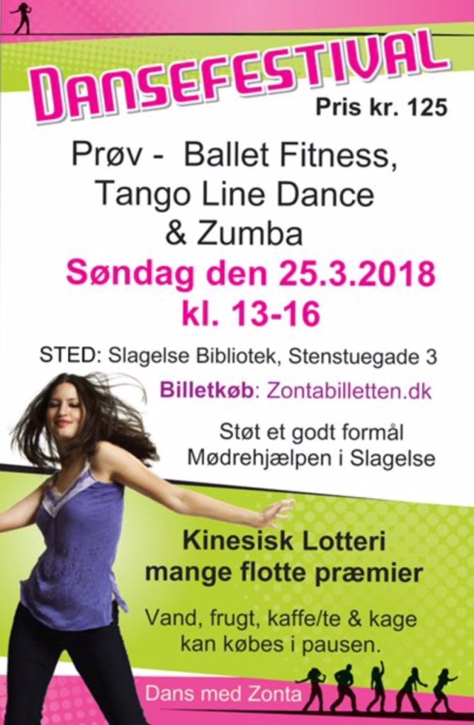 Dansefestival 25.03.2018 Slagelse - plakat